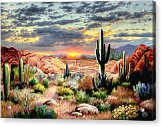 Twilight On The Desert Acrylic Print