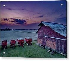 Twilight On The Farm Acrylic Print