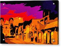 Twilight On The Plaza Santa Fe Acrylic Print