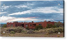 Twilight Panorama Of Pueblo Revival Architecture At Cross Of The Martyrs - Santa Fe - New Mexico Acrylic Print