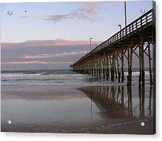 Twilight Pier Acrylic Print by Al Smith