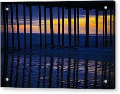 Twilight Pier Acrylic Print by Garry Gay