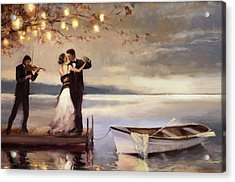 Acrylic Print featuring the painting Twilight Romance by Steve Henderson