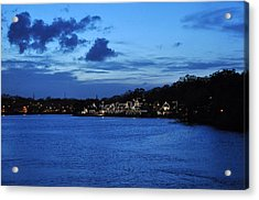 Twilight Row Acrylic Print by Andrew Dinh
