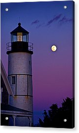 Twilight At Sandy Neck Lighthouse Acrylic Print