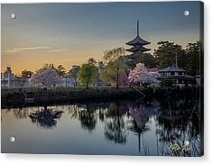 Acrylic Print featuring the photograph Twilight Temple by Rikk Flohr