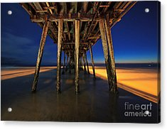Twilight Under The Imperial Beach Pier San Diego California Acrylic Print