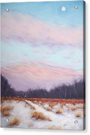 Twilight Winter Whisper Acrylic Print by Christine Camp