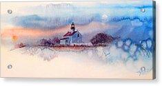 Twilightlight At Pt. Loma Lighthouse, San Diego Acrylic Print