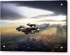 Acrylic Print featuring the digital art Twilight's Last Gleaming by Peter Chilelli