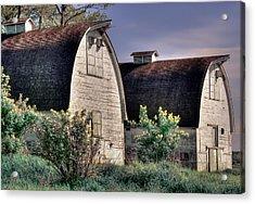 Twin Barns, Nisqually, Wa Acrylic Print by Greg Sigrist