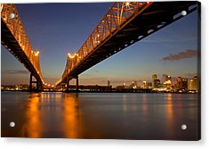 Acrylic Print featuring the photograph Twin Bridges by Evgeny Vasenev