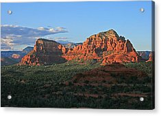 Twin Buttes Sunset Acrylic Print