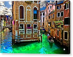Twin Canals Acrylic Print