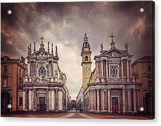 Twin Churches Of Turin  Acrylic Print