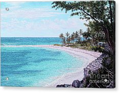 Twin Cove Paradise Acrylic Print