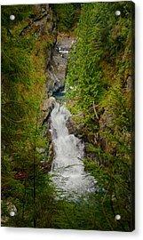 Twin Falls Snoqualmie River Washington Acrylic Print by Stacey Lynn Payne
