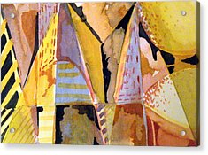 Twin Golden Pyramids Acrylic Print by Mindy Newman