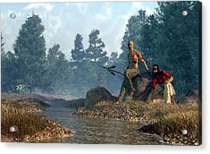 Twin Heroes Acrylic Print by Daniel Eskridge