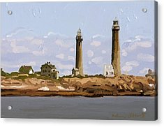 Twin Lights, Thatcher's Island, Rockport, Ma Acrylic Print