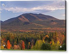 Twin Mountain Autumn Sunset Acrylic Print