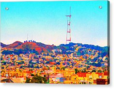 Twin Peaks In San Francisco Acrylic Print by Wingsdomain Art and Photography