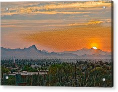 Acrylic Print featuring the photograph Twin Peaks Sunset Remix by Dan McManus