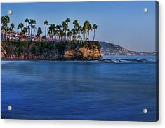 Twin Points At Dusk Acrylic Print