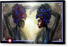 Twin Sisters Acrylic Print