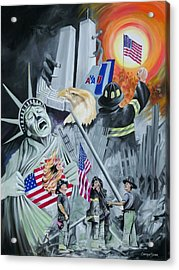 Twin Towers 911 New York Acrylic Print