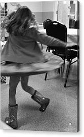Twirling Girl  Acrylic Print
