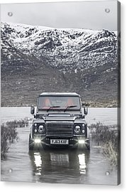 Twisted Land Rover Defender Acrylic Print