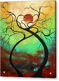 Twisting Love II Original Painting By Madart Acrylic Print