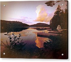 Acrylic Print featuring the photograph Twitchell At Sunset by Christopher Meade