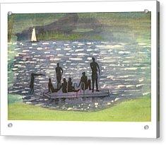 Twlight Swim  Acrylic Print by Hal Newhouser