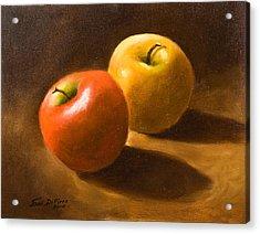 Two Apples Acrylic Print by Joni Dipirro