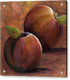 Two Apples Acrylic Print by Sandy Clift