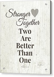 Two Are Better Than One- Art By Linda Woods Acrylic Print by Linda Woods