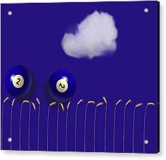 Blue Balls Acrylic Print