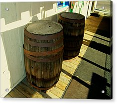 Acrylic Print featuring the photograph Two Barrels by Lenore Senior