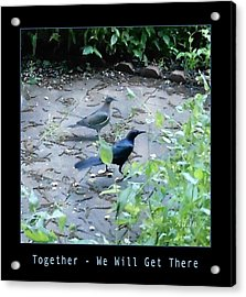 Acrylic Print featuring the photograph Two Birds Blue by Felipe Adan Lerma