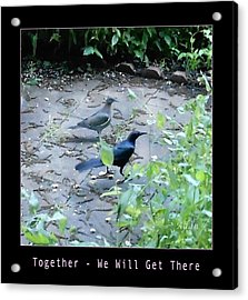 Acrylic Print featuring the photograph Two Birds Pink by Felipe Adan Lerma