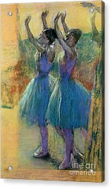 Two Blue Dancers Acrylic Print by Edgar Degas