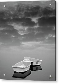Acrylic Print featuring the photograph Two Boats And Clouds by Dave Gordon