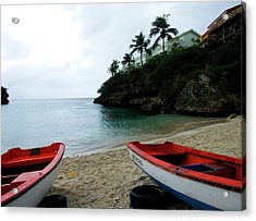 Acrylic Print featuring the photograph Two Boats, Island Of Curacao by Kurt Van Wagner