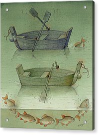Two Boats Acrylic Print by Kestutis Kasparavicius