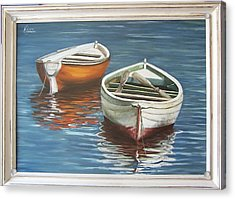 Acrylic Print featuring the painting Two Boats by Natalia Tejera