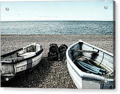 Two Boats On Seaford Beach Acrylic Print