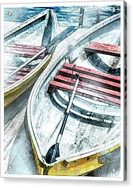 Two Boats To Coconut Cove Acrylic Print