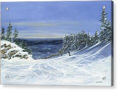 Acrylic Print featuring the painting Two By Two by Ken Ahlering